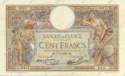 100 Francs LUC OLIVIER MERSON type modifié FRANCE  1938 F.25.13 TTB+
