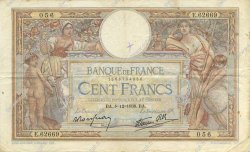 100 Francs LUC OLIVIER MERSON type modifié FRANCE  1938 F.25.36 TTB
