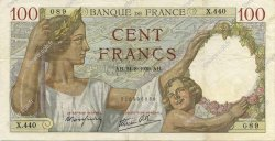 100 Francs SULLY FRANCE  1939 F.26.05 TTB