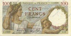 100 Francs SULLY FRANCE  1940 F.26.35 TTB+