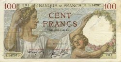 100 Francs SULLY FRANCE  1940 F.26.36 TTB