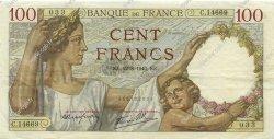 100 Francs SULLY FRANCE  1940 F.26.37 TTB+