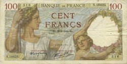 100 Francs SULLY FRANCE  1941 F.26.45 pr.TTB