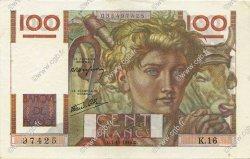 100 Francs JEUNE PAYSAN FRANCE  1945 F.28.01 SUP à SPL