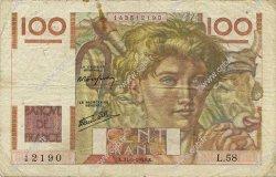 100 Francs JEUNE PAYSAN FRANCE  1946 F.28.05 TB