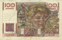 100 Francs JEUNE PAYSAN FRANCE  1946 F.28.12 TTB+