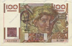 100 Francs JEUNE PAYSAN FRANCE  1953 F.28.38 pr.SPL