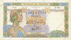 500 Francs LA PAIX FRANCE  1940 F.32.04 TTB+