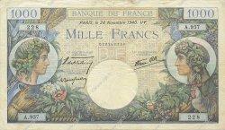 1000 Francs COMMERCE ET INDUSTRIE FRANCE  1940 F.39.02 TTB+