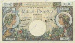 1000 Francs COMMERCE ET INDUSTRIE FRANCE  1944 F.39.09 SUP