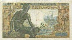 1000 Francs DÉESSE DÉMÉTER FRANCE  1942 F.40.01 TTB