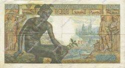1000 Francs DÉESSE DÉMÉTER FRANCE  1942 F.40.04 TTB