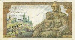 1000 Francs DÉESSE DÉMÉTER FRANCE  1942 F.40.11 TTB