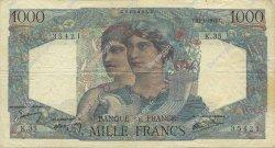 1000 Francs MINERVE ET HERCULE FRANCE  1945 F.41.03