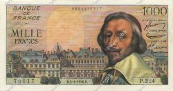 1000 Francs RICHELIEU  FRANCE  1956 F.42.18 pr.SPL