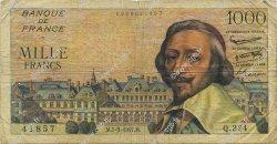 1000 Francs RICHELIEU FRANCE  1957 F.42.25 B+