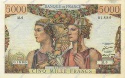 5000 Francs TERRE ET MER FRANCE  1949 F.48.01 SUP+