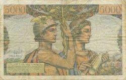 5000 Francs TERRE ET MER FRANCE  1953 F.48.08 pr.TB