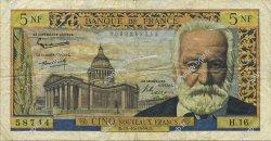 5 Nouveaux Francs VICTOR HUGO FRANCE  1959 F.56.03 pr.TTB