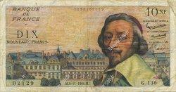 10 Nouveaux Francs RICHELIEU FRANCE  1960 F.57.11 TB+