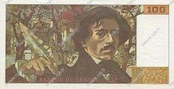 100 Francs DELACROIX modifié FRANCE  1978 F.69.01g SPL+