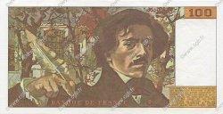 100 Francs DELACROIX modifié FRANCE  1980 F.69.04a SPL