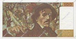 100 Francs DELACROIX modifié FRANCE  1982 F.69.06 pr.SPL