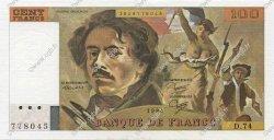 100 Francs DELACROIX modifié FRANCE  1984 F.69.08a SPL+