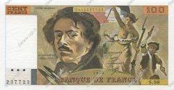 100 Francs DELACROIX modifié FRANCE  1985 F.69.09 SPL+