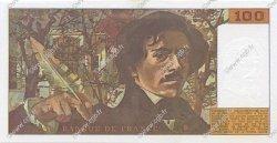 100 Francs DELACROIX imprimé en continu FRANCE  1990 F.69bis.02a pr.NEUF