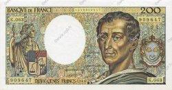 200 Francs MONTESQUIEU FRANCE  1989 F.70.09 SPL