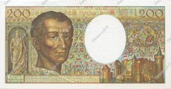 200 Francs MONTESQUIEU FRANCE  1989 F.70.09 SPL
