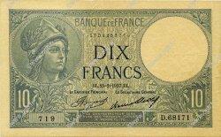 10 Francs MINERVE FRANCE  1937 F.06.18 pr.SUP