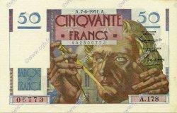 50 Francs LE VERRIER FRANCE  1951 F.20.18 pr.SPL