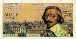 1000 Francs RICHELIEU FRANCE  1957 F.42.26 pr.TTB