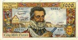 5000 Francs HENRI IV FRANCE  1958 F.49.06 SUP à SPL