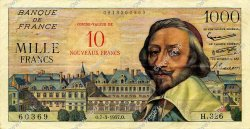 10 NF sur 1000 Francs RICHELIEU  FRANCE  1957 F.53.01 TTB