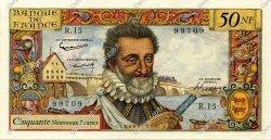 50 Nouveaux Francs HENRI IV FRANCE  1959 F.58.02 SUP à SPL