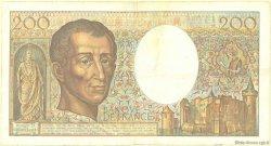 200 Francs MONTESQUIEU FRANCE  1981 F.70 TB