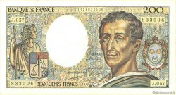 200 Francs MONTESQUIEU FRANCE  1981 F.70 TTB+