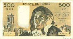 500 Francs PASCAL FRANCE  1968 F.71 TB