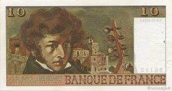 10 Francs BERLIOZ sans signatures FRANCE  1973 F.63bis.01 SUP