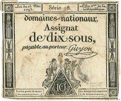 10 Sous FRANCE  1793 Muz.26a TB