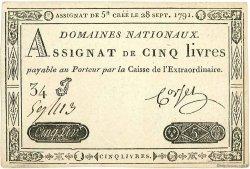 5 Livres FRANCE  1791 Muz.34 SPL+