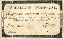 250 Livres FRANCE  1793 Ass.45a TTB+