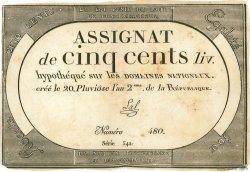 500 Livres FRANCE  1794 Muz.48 TTB