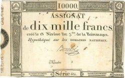 10000 Francs FRANCE  1795 Muz.53 TTB