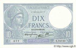 10 Francs MINERVE modifié FRANCE  1939 F.07.05 pr.NEUF