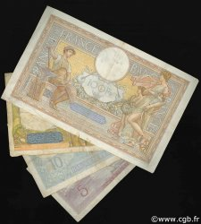 Lot 4 billets BdF : Entre deux Guerres FRANCE  1930 F.04-07-18-25 TB à TTB