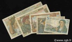 Lot 5 billets BdF : La France de 1940 FRANCE  1939 F.05-08-13-19-26 B à TB